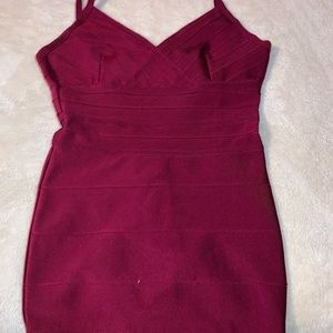 Mini Burgundy Bodycon Dress